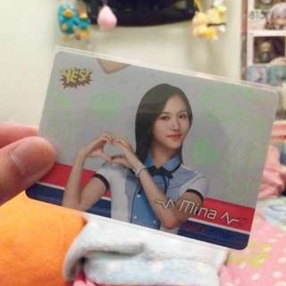 Twice mina 專輯膠卡
