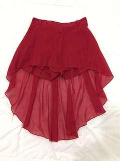 女裝紅色裙褲