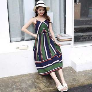 [PO] Boho Midi Stripes Dress (41)