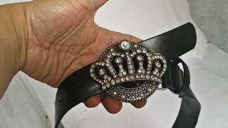 Crown Belt buckle with crystal