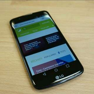 LG k10 lte open line whit and black coulor  95%new