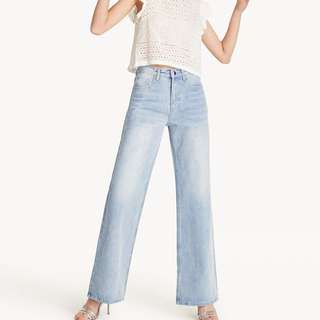Pomelo  High Rise Wide Leg Jeans  (worn once)