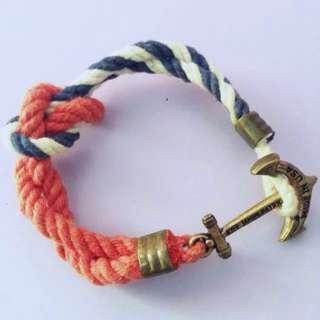 Kiel James Patrick Anchor Rope Bracelet
