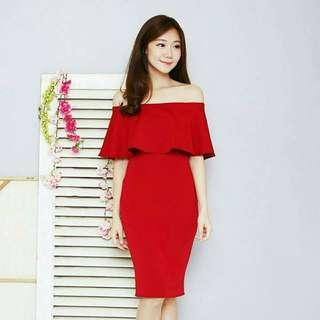 Sabrina plain dress