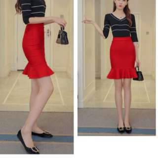 Tight skirt; ulzzang Korean Kpop trend wave fashion; working office lady formal; ladies woman female girl women