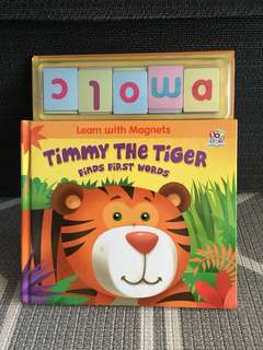 Timmy the tiger 'Learn with magnets' series on finding first words