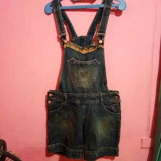 Baju Celana Kodok Overall Jumpsuit Pendek Jeans