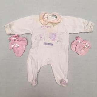 Baju Tidur Bayi  (0-1 mo) #MakinTebel