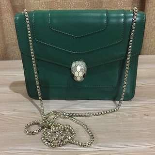 💚Bvlgari Green Serpenti Chain Bag💚