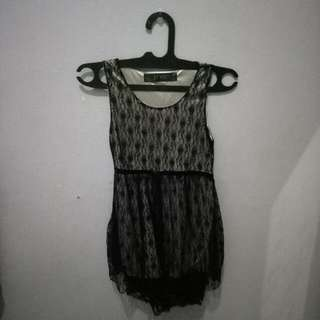 Mini Dress Hitam Lace Jrep