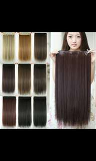 *All Preorder only!!Natural straight clip on hair extension *Waiting time 12days after payment is made *pm to order