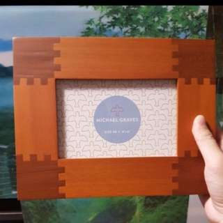 Michael Graves wooden photoframe 4R 4x6 inches