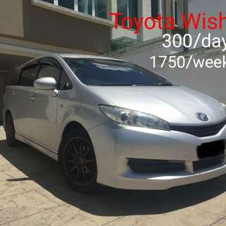 Toyota Wish kereta sewa car rental 0192057878