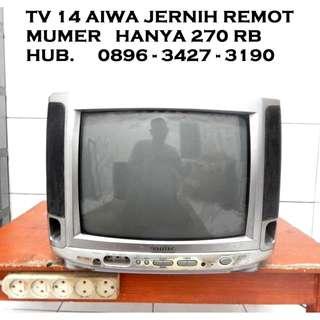 """Tv Aiwa 14"""" MuMeR  Jernih Remot Multi Av KATAPANG SOREANG"""