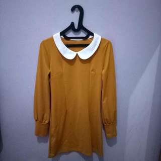 Terusan || Mustard Dress || Long Sleeve Dress