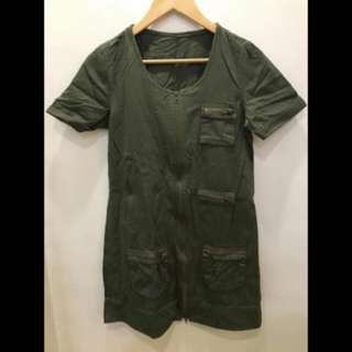 Olive Green Army Dress