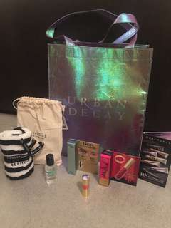Brand new travel size makeup with Urban Decay recycle bag