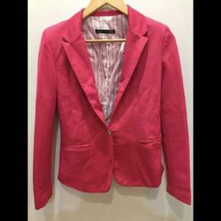 Zara Woman Pink Blazer Coat