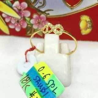 Sale!!! Saudi gold 18k ring
