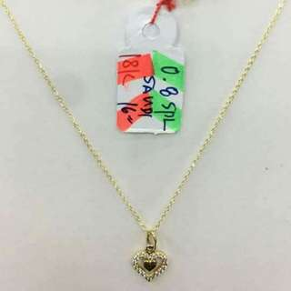 Sale!!! Saudi gold 18k necklace with pendant