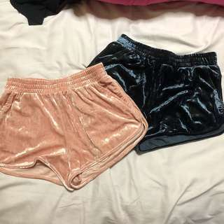 H&M suede running shorts