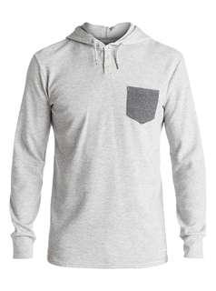 Quiksilver murky sky hoodie light grey S/M