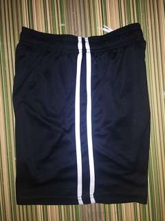 JS17 Plain Football shorts Black with white trim size Small