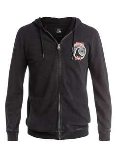 Quiksilver Ghetto surf black hoodie zip M