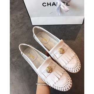 Genuine Leather Chanel Kangaroo Loafers or Mules