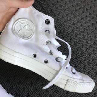 Unisex converse all stars high tops white