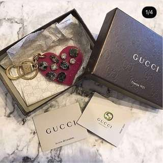 Gucci heart with crystal key holder