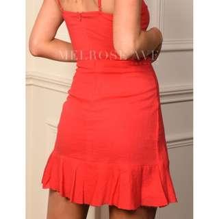 60% OFF - Melrose Avenue Emilie Wrap Dress (RED)