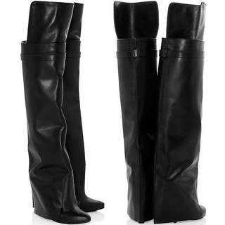Authentic Givenchy Tall Leather Boots