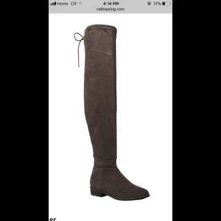 Grey over the knee boots from spring