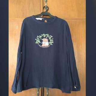 Blue Bear Design Long Sleeve Top