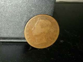 Straits Settlement Queen Victoria 1/2Cent. 1884