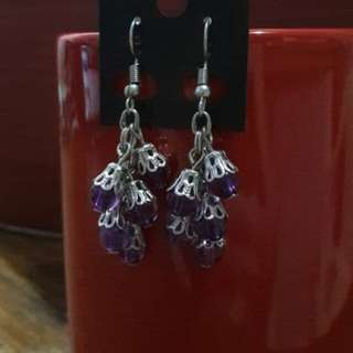 Grape bunch dangling earrings