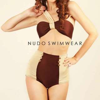 Nudo swimwear asymmetrical highwaist bikini