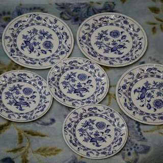 Blue meissen Dinner & dessert plates for Sale