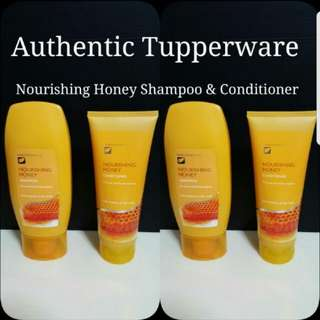 Authentic Tupperware Nourishing Honey Shampoo 300ml & Conditioner 200ml  《Retail Price S$28.00》
