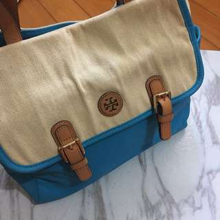 Authentic Tory burch blue tote bag 手袋 可上膞