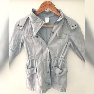 Girls grey sz8 winter jacket