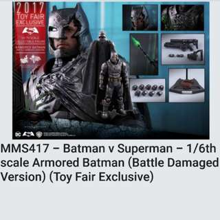 Hot Toys Battled Damaged Armored Batman Toy Fair Exclusive