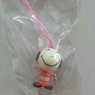 FREE NM📬Brand New Wooden Doll Strap Oversea Souvenir