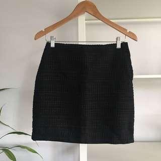 H&m Black A-line Skirt