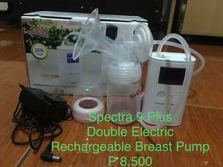 Repriced 9 Plus Double Electric Rechargeable Breast Pump