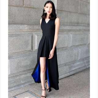 Tiff black/blue theory of seven dress