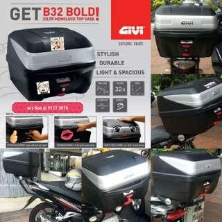 0603-- GIVI BOX B32 BOLD new model 😆😆😆 (YAMAHA SPARK,JUPITER, HONDA, SUZUKI)
