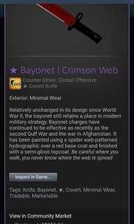 Bayonet Crimson Web MW