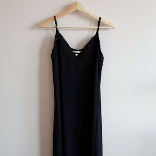 *PRICE DROP* Babaton Black Midi Slip Dress